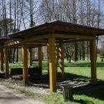 Беседки на Комсомольском озере (Парк Победы)