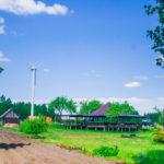 Крытая беседка на берегу Браславских озер