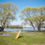 Беседки на берегу Заславского водохранилища