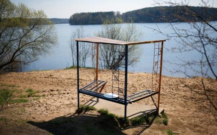 Беседки на водохранилище Вяча